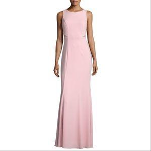 Pink Bubble Gum Mesh Inset Sleeveless Gown Dress